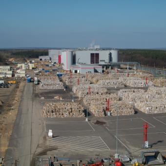 Europas größte Papierfabrik in Eisenhüttenstadt