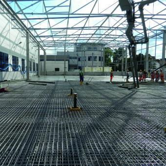 Produktion Bodenplatte